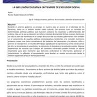 E9 - Rebecchi - La inclusión educativa en tiempos de exclusión social.pdf