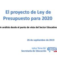 El proyecto de Ley de Presupuesto para 2020.pdf
