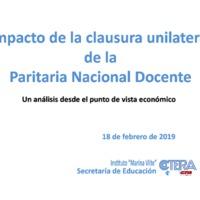 Impacto de la clausura unilateral de la Paritaria Nacional Docente.pdf