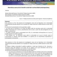 E12 - Badano, Basso, Benedetti. Narrativas acerca de la función social de la universidad contemporánea.pdf
