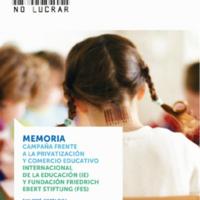 Memoria. Campaña frente a la privatización y comercio educativo.pdf