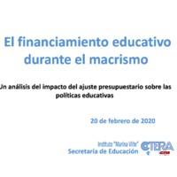 El financiamiento educativo durante el macrismo. Un análisis del impacto del ajuste presupuestario sobre las políticas educativas.pdf