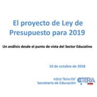 El proyecto de Ley de Presupuesto para 2019.pdf