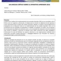 E4 - Pascual, Albergucci - Un análisis crítico sobre el operativo Aprender 2016.pdf